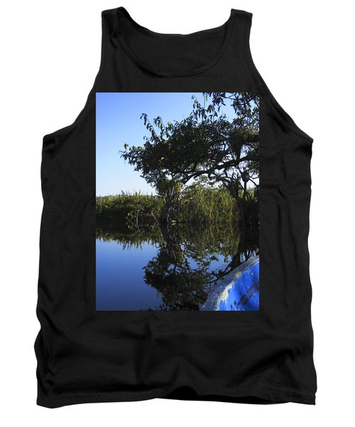 Reflection Of Arched Branches Tank Top by Anne Mott