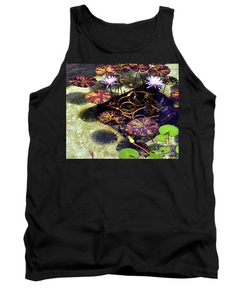 Reflections On Underwater Life Tank Top by Clayton Bruster