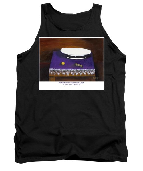 Tank Top featuring the painting Roberts Wesleyan College Division Of Nursing by Marlyn Boyd
