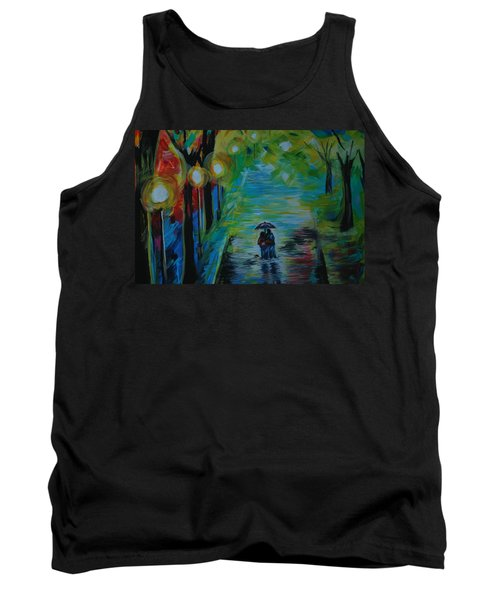 Tank Top featuring the painting Romantic Stroll Series 1 by Leslie Allen