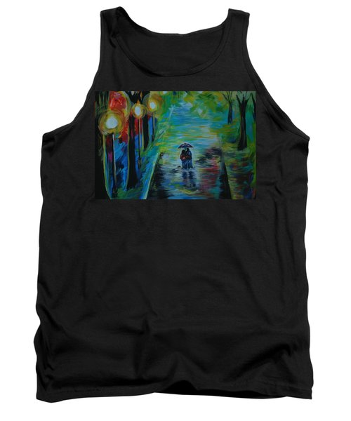 Tank Top featuring the painting Romantic Stroll Series II by Leslie Allen