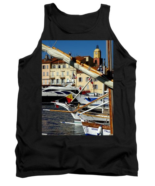 Tank Top featuring the photograph Saint Tropez Harbor by Lainie Wrightson
