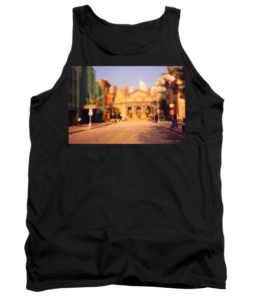 Tank Top featuring the photograph Seaport Tiltshift by EricaMaxine  Price