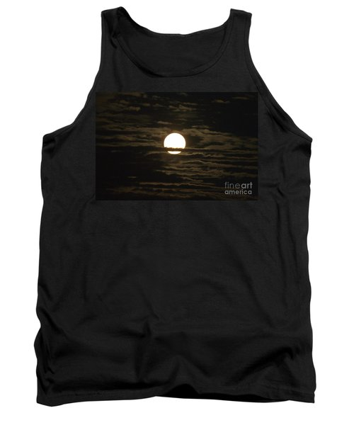 Tank Top featuring the photograph Seneca Lake Moon by William Norton