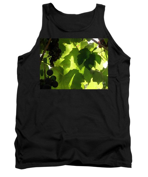 Tank Top featuring the photograph Shadow Dancing Grapes by Lainie Wrightson