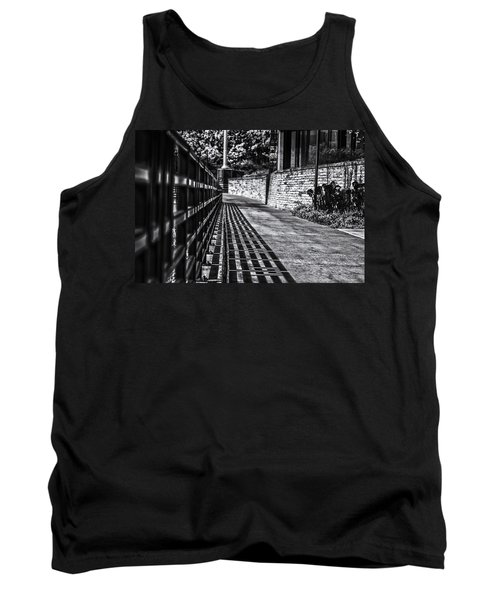 Tank Top featuring the photograph Shadow Walk by Tom Gort