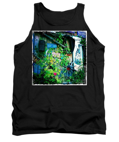 Tank Top featuring the photograph Sign Wall by Nina Prommer
