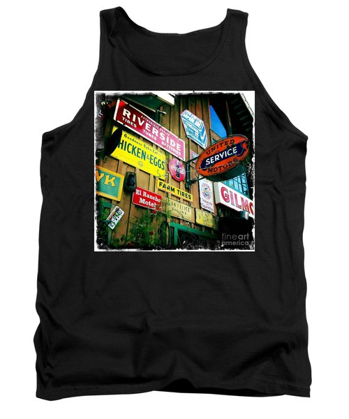Tank Top featuring the photograph Signs Of A Great Place by Nina Prommer