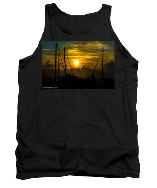 Silhouettes At The Marina Tank Top