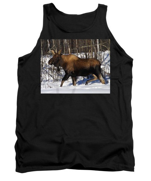 Tank Top featuring the photograph Snow Moose by Doug Lloyd