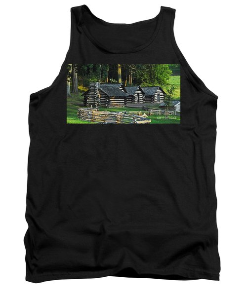 Tank Top featuring the photograph Soldiers Quarters At Valley Forge by Cindy Manero