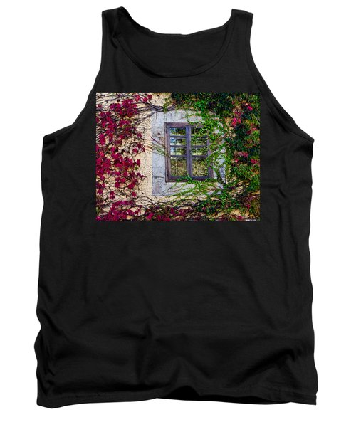 Tank Top featuring the photograph Spanish Window by Don Schwartz