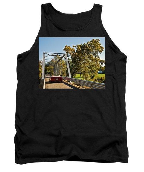 Tank Top featuring the photograph Sports Car On A Bridge by Susan Leggett