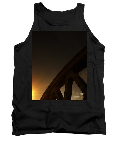 Tank Top featuring the photograph Starry Night On Sunset Bridge by Andy Prendy