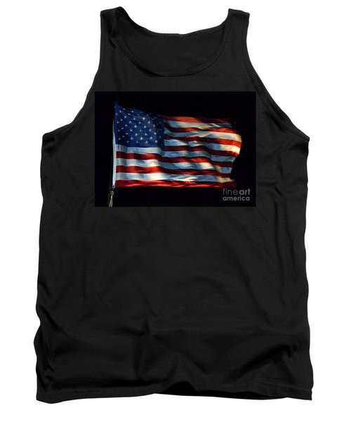 Stars And Stripes At Night Tank Top