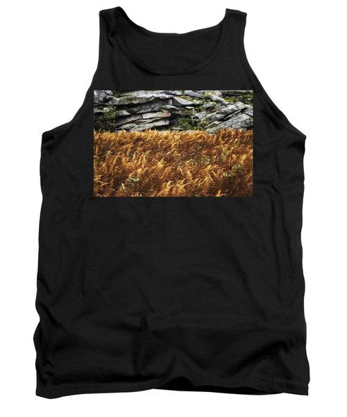 Stone Wall And Fern Tank Top