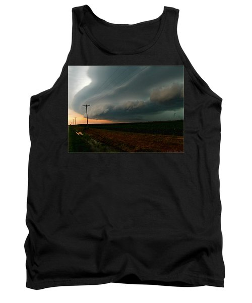 Tank Top featuring the photograph Storm Front by Debbie Portwood