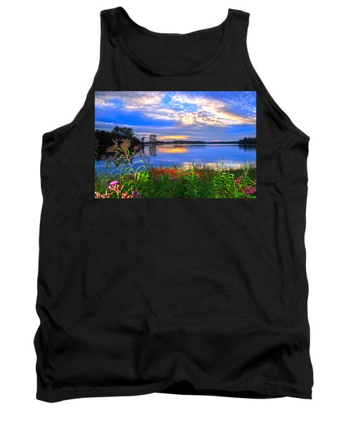 Tank Top featuring the photograph Summertime Walk Around Lake  by Randall Branham