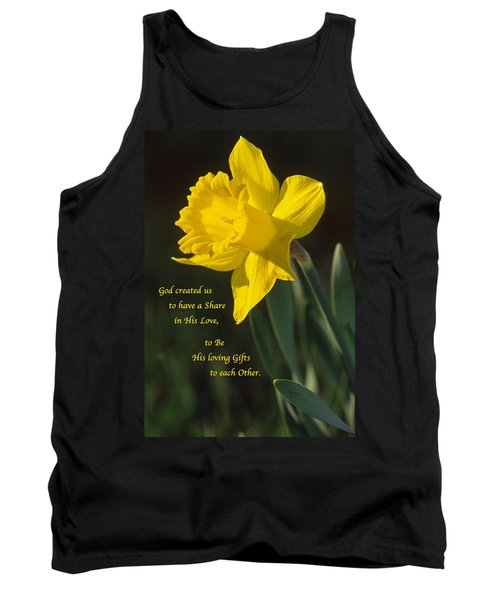 Sunny Daffodil With Quote Tank Top