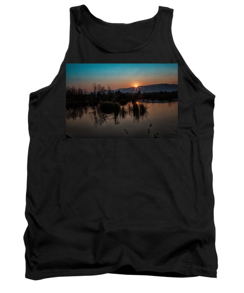 Sunrise Over The Beaver Pond Tank Top