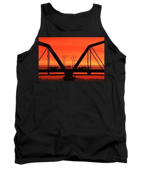 Sunrise Walnut Street Bridge Tank Top
