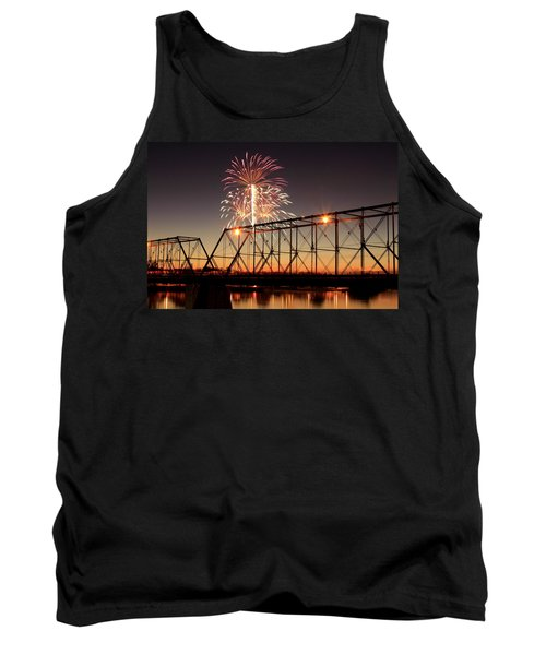 Sunset And Fireworks Tank Top
