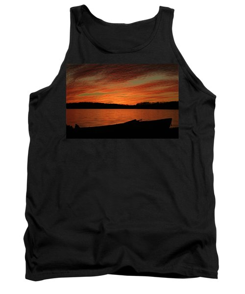 Sunset And Kayak Tank Top