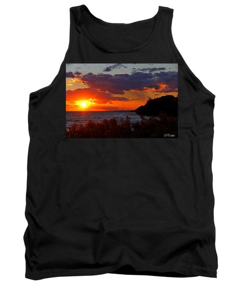 Sunset By The Beach Tank Top by Davandra Cribbie