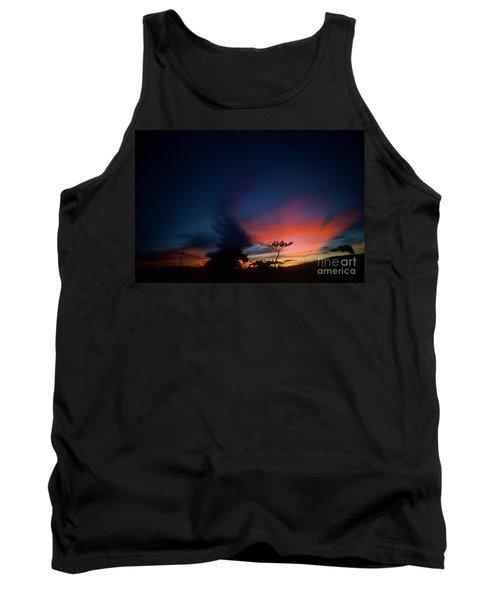 Sunset Leeward Oahu Tank Top by Mark Gilman