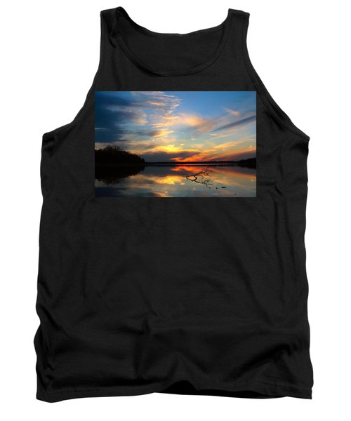 Sunset Over Calm Lake Tank Top