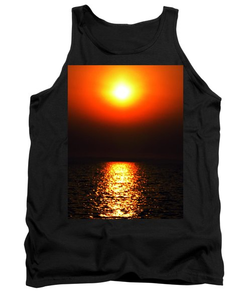 Tank Top featuring the photograph sunset Santorini Greece by Colette V Hera  Guggenheim