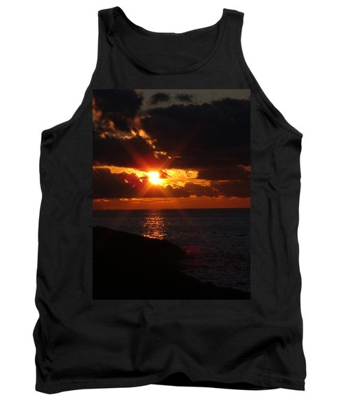 Tank Top featuring the photograph Superior Sunset by Bonfire Photography