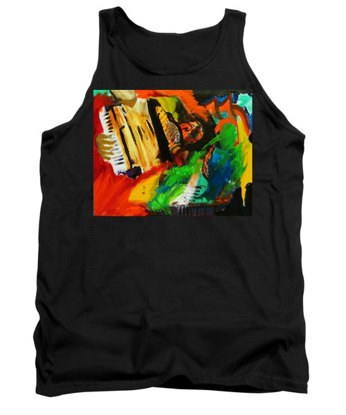 Tank Top featuring the painting Tango Through The Memories by Keith Thue