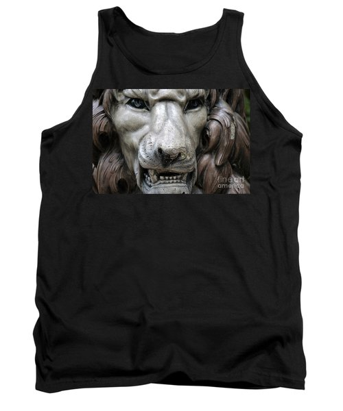 Tank Top featuring the photograph The Fierce Lion  by Kathy  White