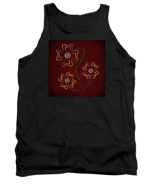 Tank Top featuring the digital art The Flowers  by Milena Ilieva