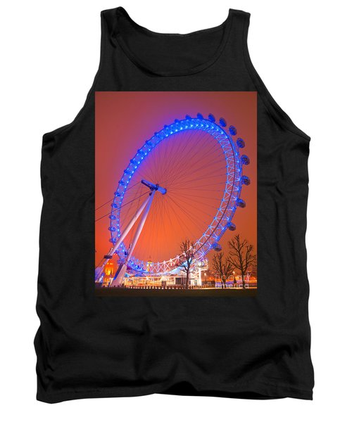 Tank Top featuring the photograph The London Eye by Luciano Mortula