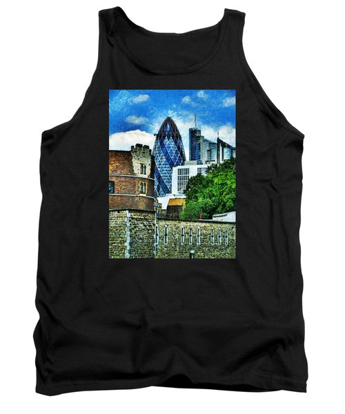 The London Gherkin  Tank Top by Steve Taylor