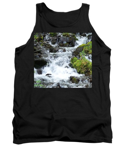 Tank Top featuring the photograph The Roadside Stream by Chalet Roome-Rigdon