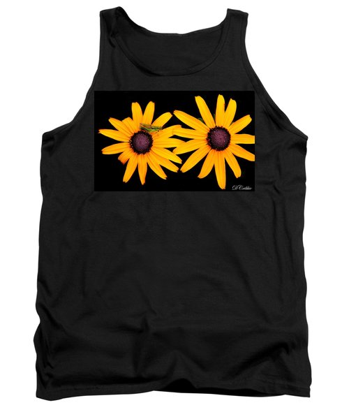 Tank Top featuring the photograph The Yellow Rudbeckia by Davandra Cribbie