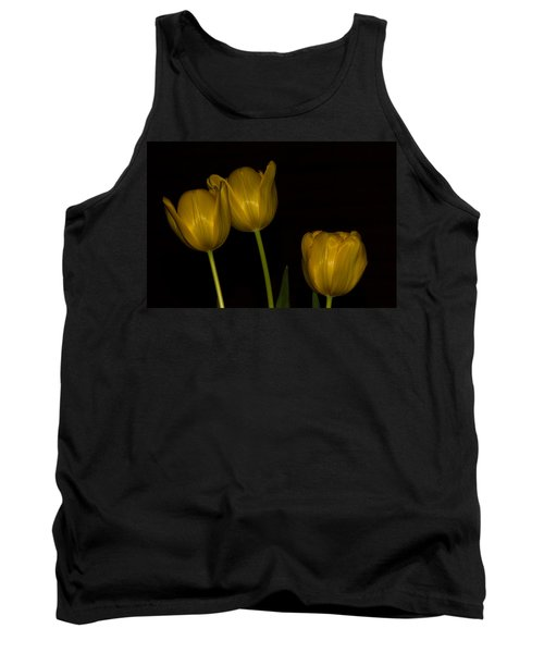 Tank Top featuring the photograph Three Tulips by Ed Gleichman