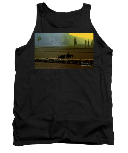 Tank Top featuring the photograph 'til The Day Is Done by Lydia Holly