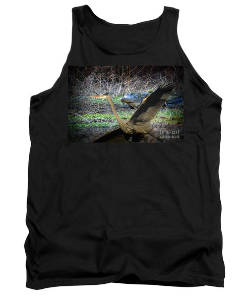 Tank Top featuring the photograph Time To Leave by Dan Friend