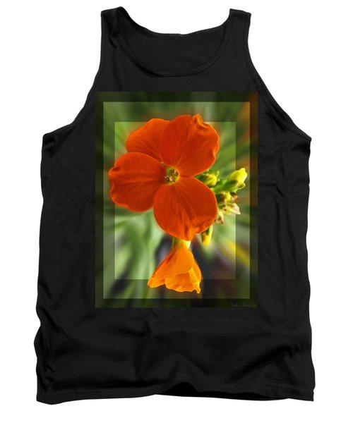 Tank Top featuring the photograph Tiny Orange Flower by Debbie Portwood
