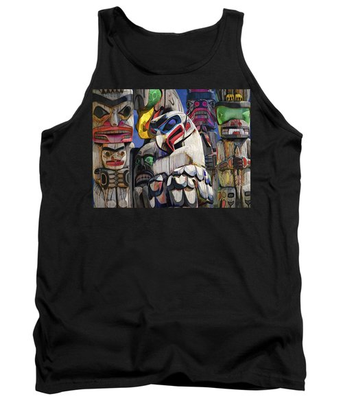 Totem Poles In The Pacific Northwest Tank Top