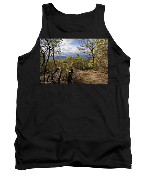 Tank Top featuring the photograph Trail At Cathedral Hills by Mick Anderson