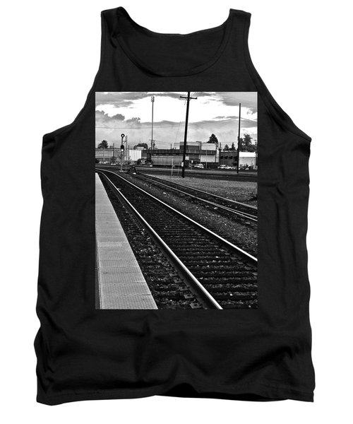 train tracks - Black and White Tank Top by Bill Owen