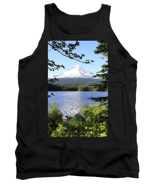 Tank Top featuring the photograph Trillium Lake At Mt. Hood by Athena Mckinzie