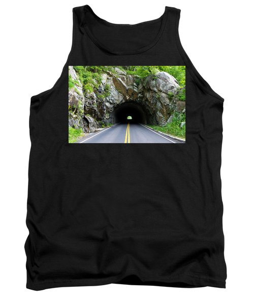 Tunnel On A Lonely Road Tank Top