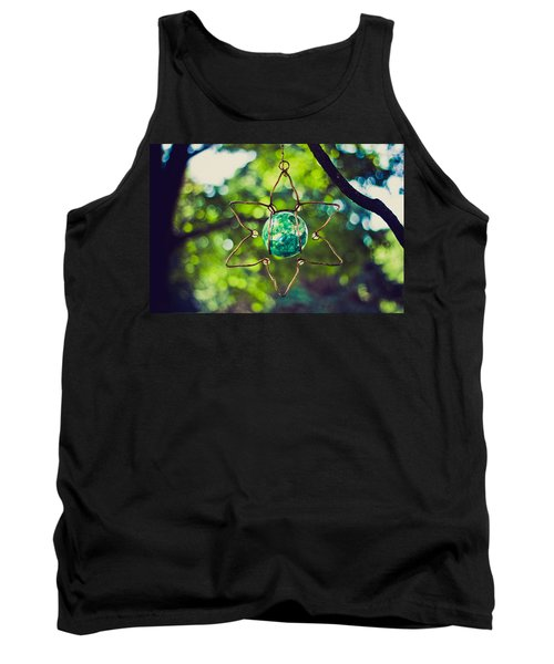 Tank Top featuring the photograph Turquoise Light by Sara Frank