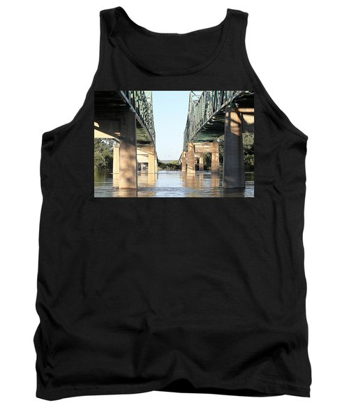 Tank Top featuring the photograph Twin Bridges by Elizabeth Winter